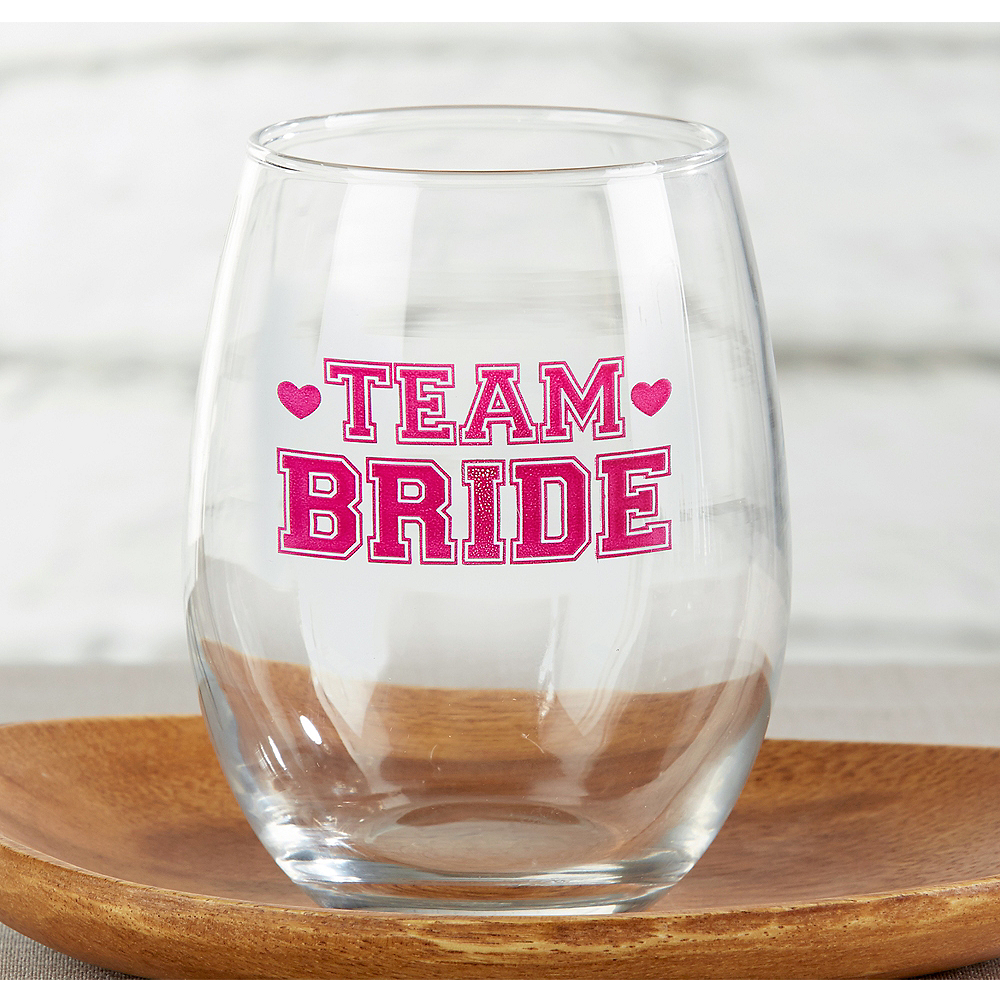 Team Bride Stemless Wine Glasses 12ct | Party City