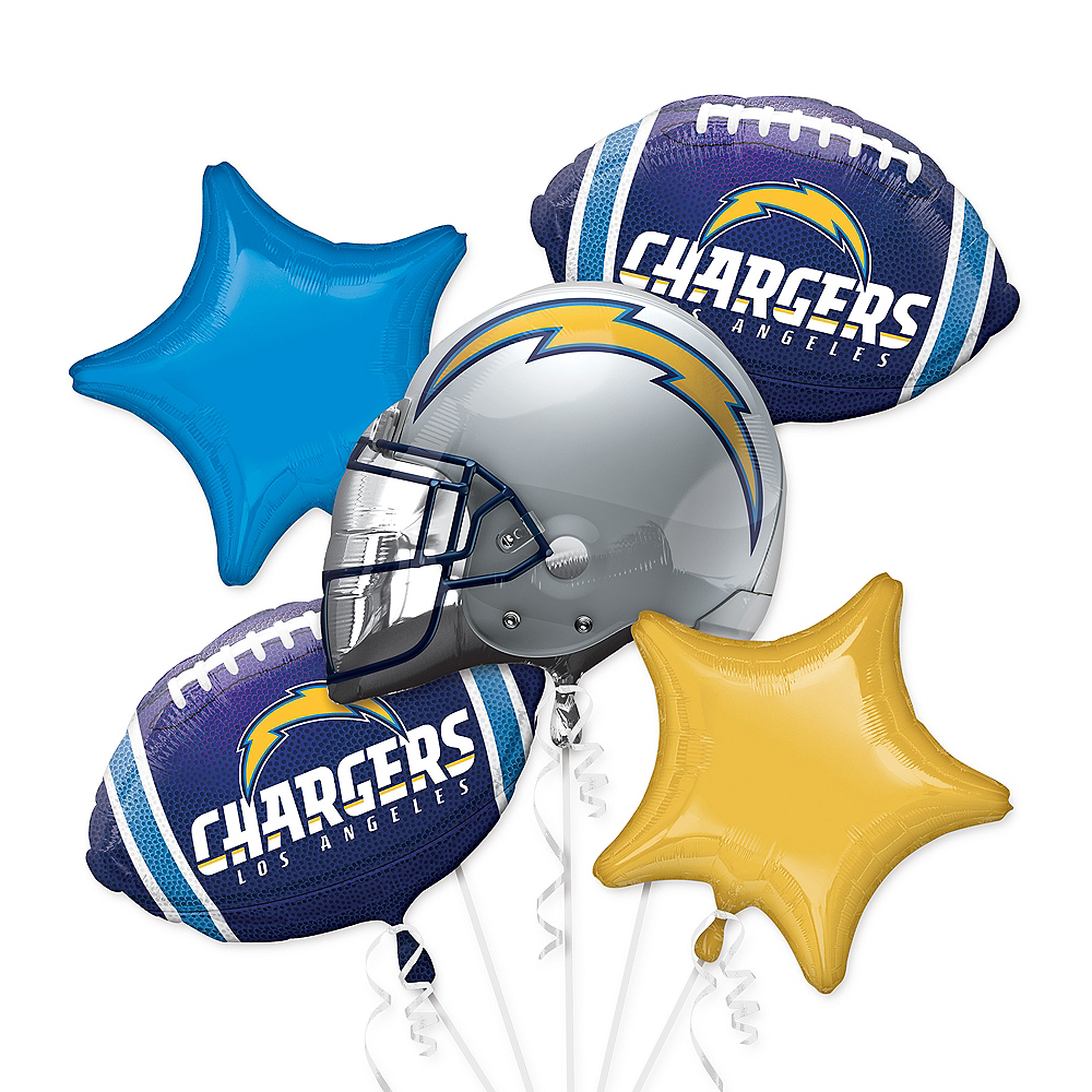 Los Angeles Chargers Balloon Bouquet 5pc Image #1
