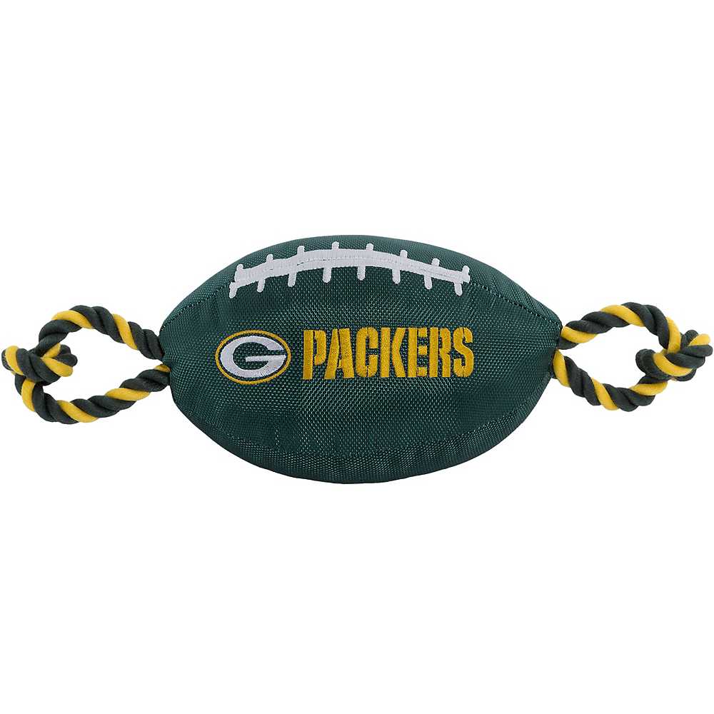 Green Bay Packers Football Dog Toy Image #1