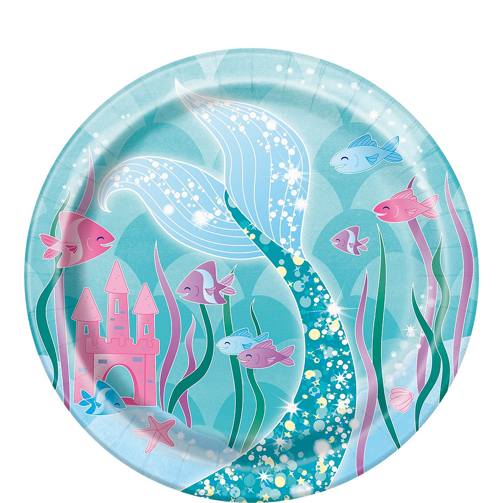 Mermaid Tableware Party Kit for 8 Guests Image #2
