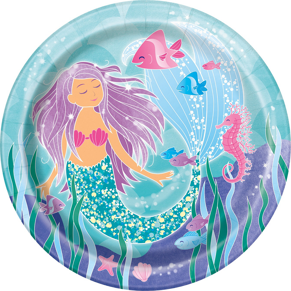 Mermaid Tableware Party Kit for 16 Guests Image #3