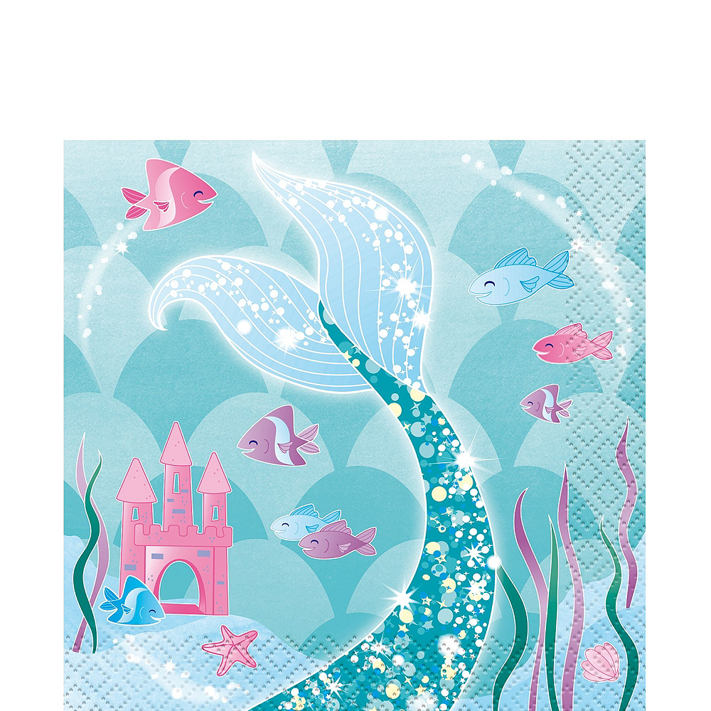 Mermaid Tableware Party Kit for 16 Guests Image #4