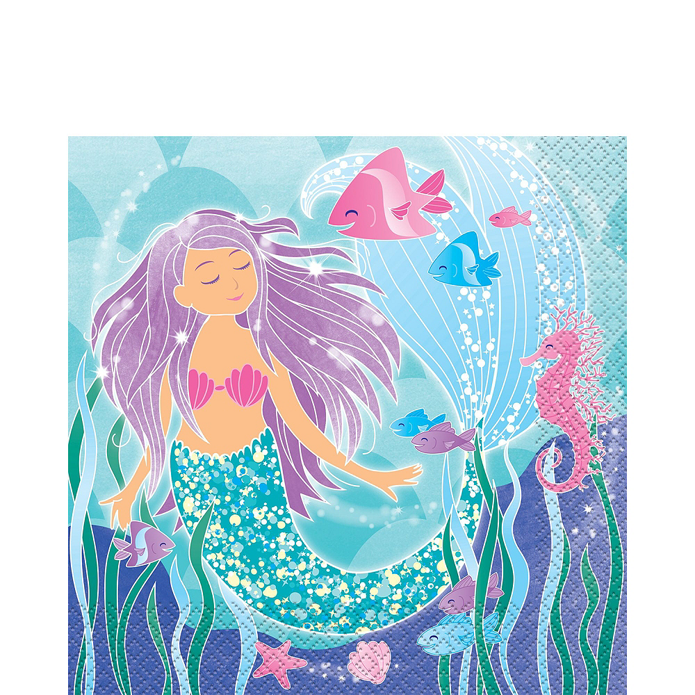 Mermaid Tableware Party Kit for 16 Guests Image #5