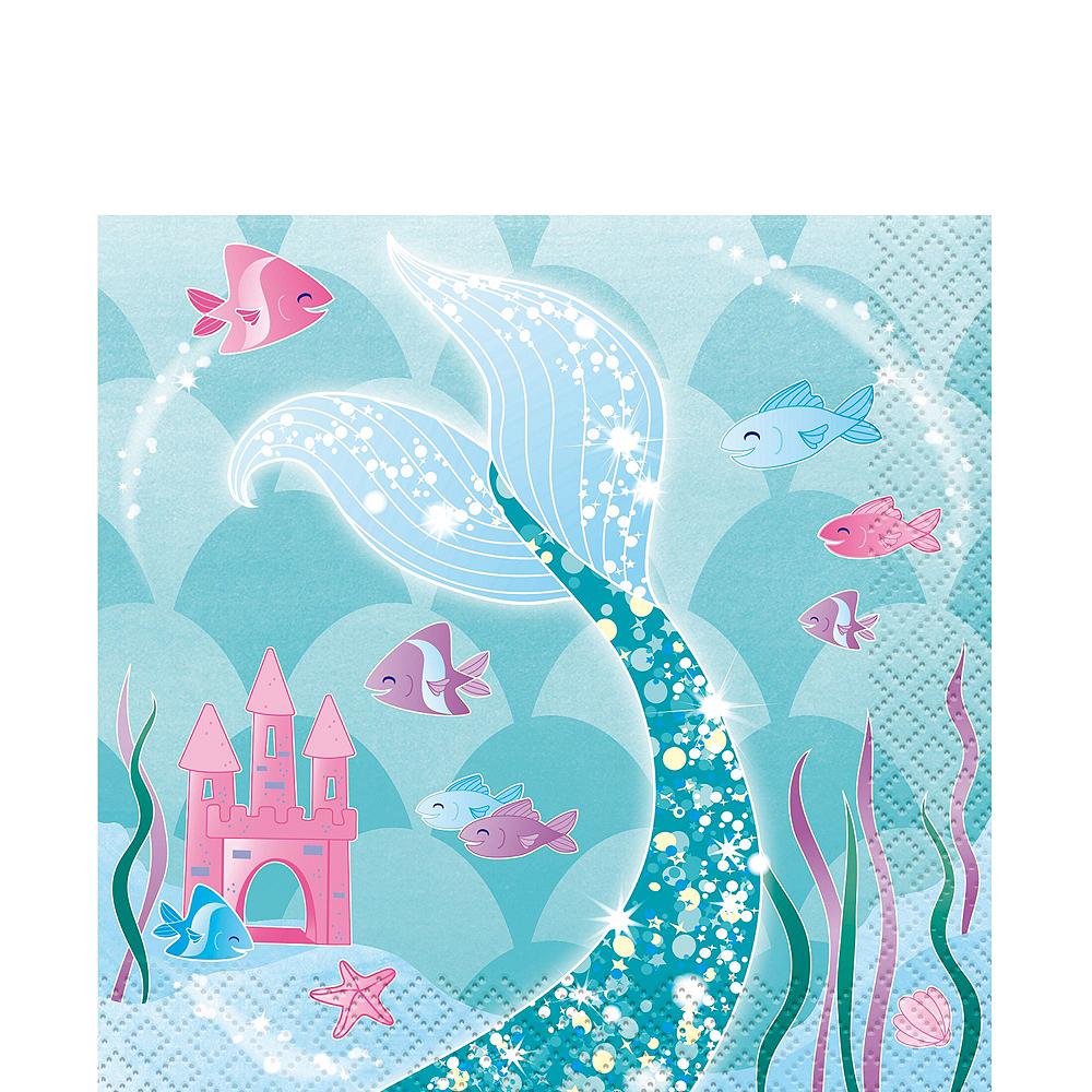 Mermaid Tableware Ultimate Kit for 24 Guests Image #4
