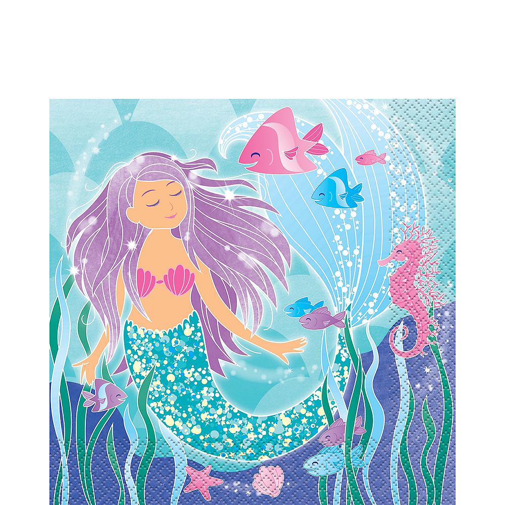 Mermaid Lunch Napkins 16ct Image #1