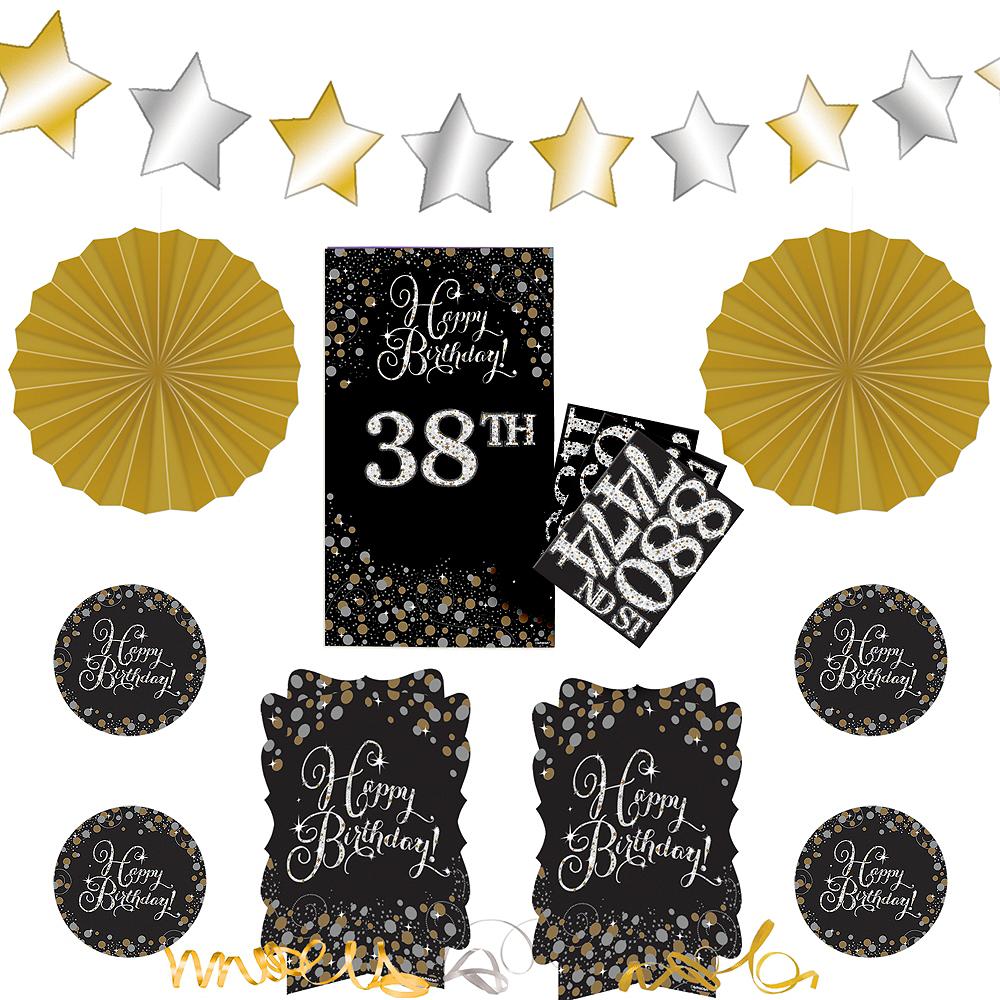 Sparkling Celebration Birthday Room Decorating Kit 36pc Image #1