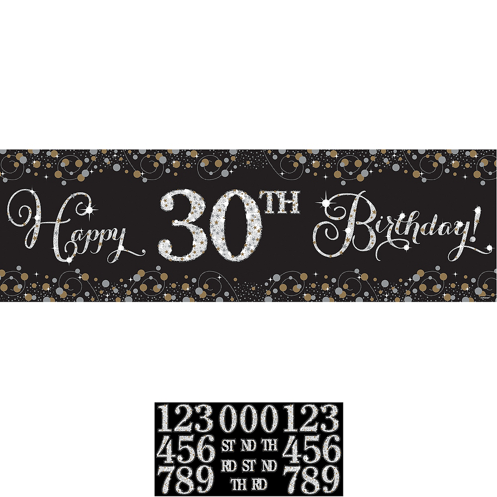 Sparkling Celebration Happy Birthday Banner Kit Image #1