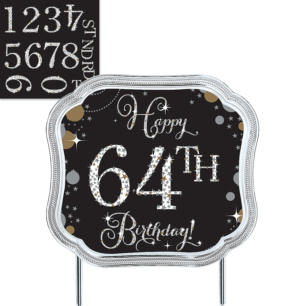 Sparkling Celebration Birthday Cake Topper Kit