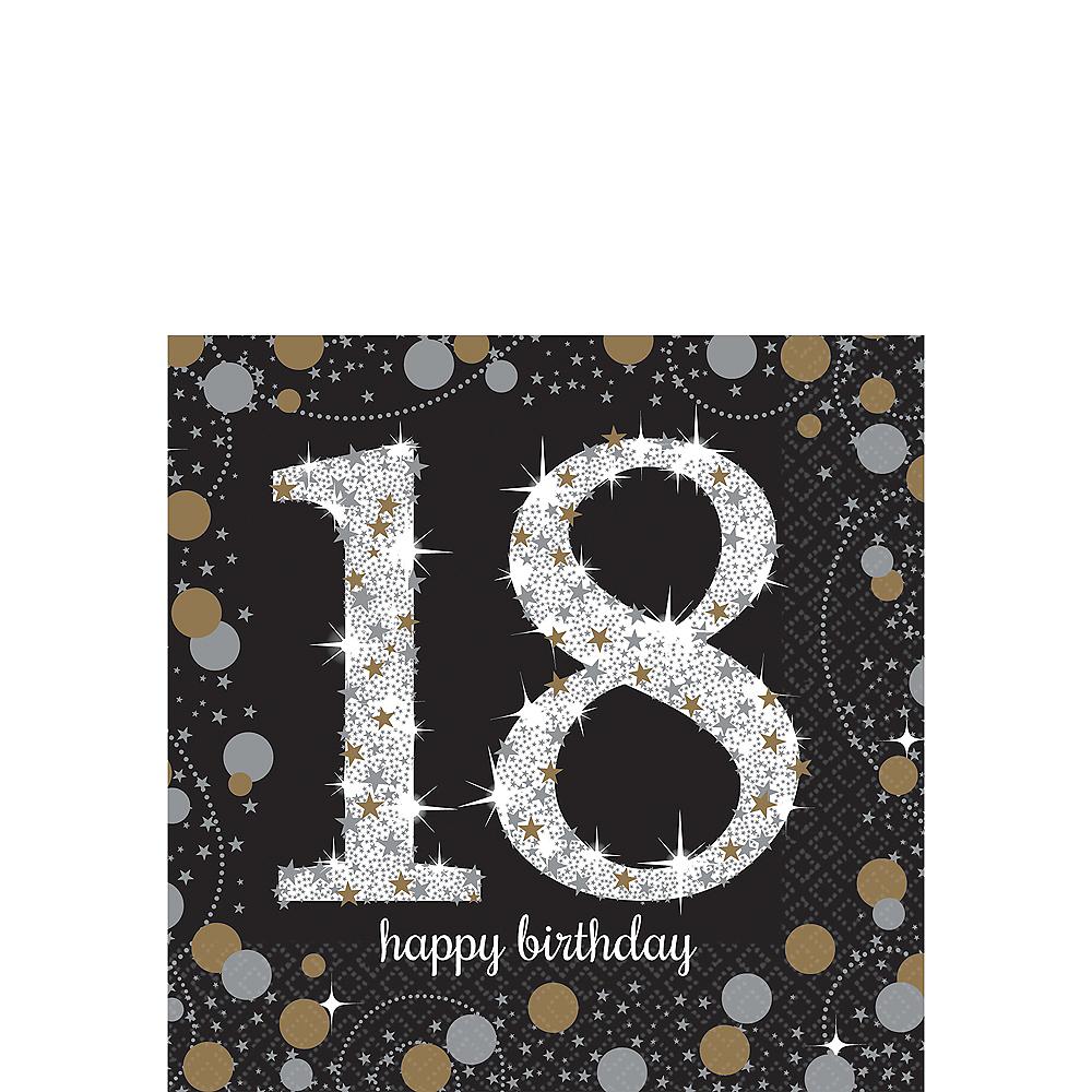 18th Birthday Beverage Napkins 16ct - Sparkling Celebration Image #1