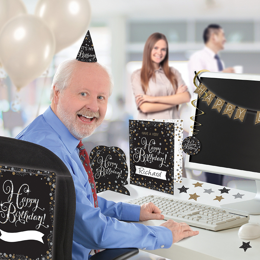 Sparkling Celebration Birthday Office Decorating Kit Image 1