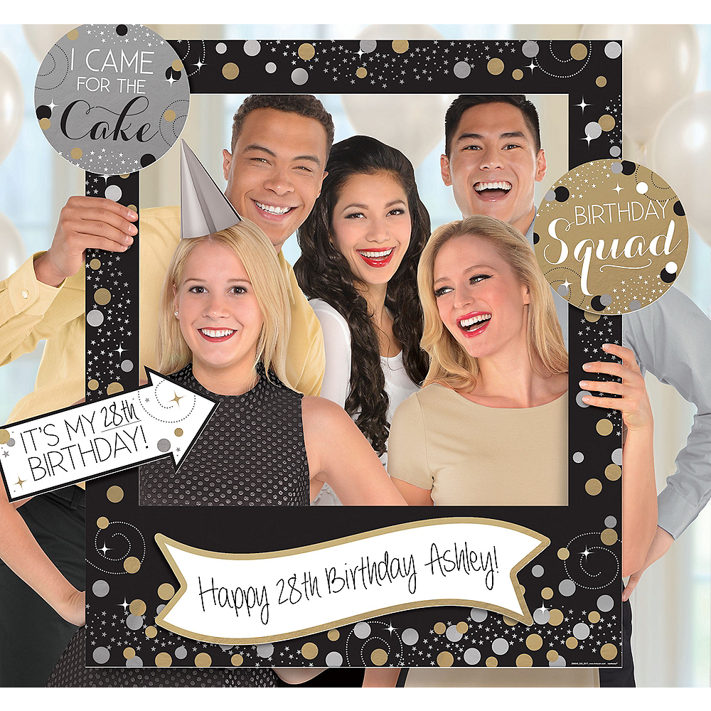 Giant Sparkling Celebration Birthday Photo Frame Kit Image 1