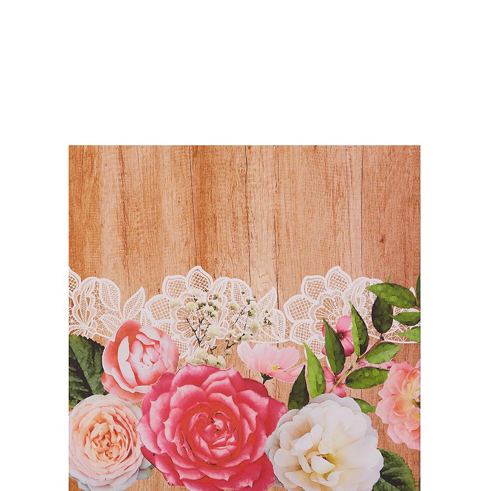 Floral & Lace Rustic Wedding Beverage Napkins 16ct Image #1
