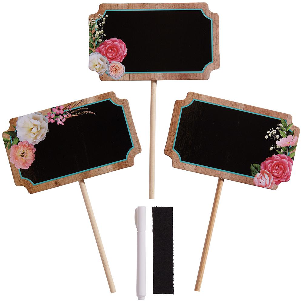 Floral & Lace Rustic Wedding Centerpiece Sticks 6ct Image #1