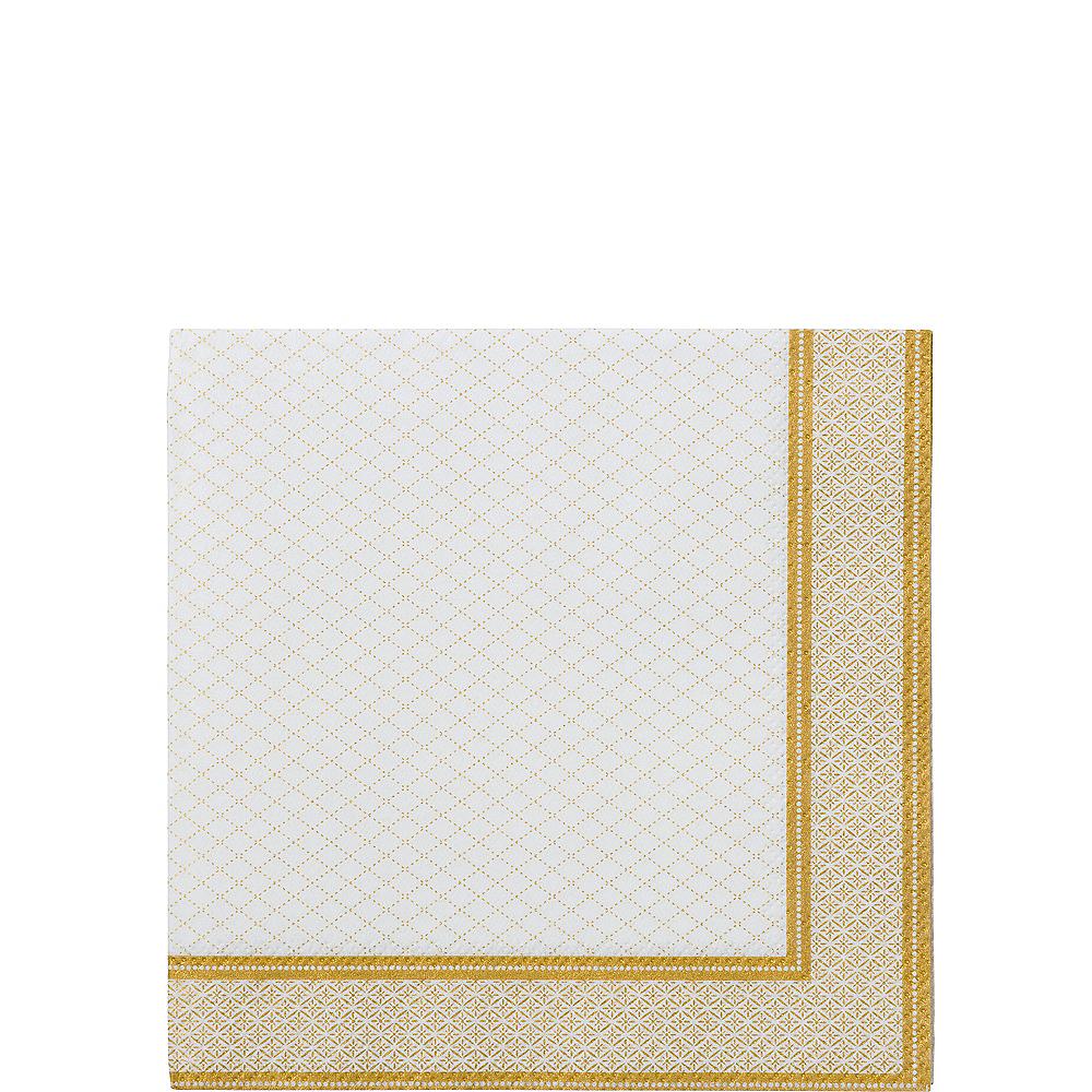 Porcelain Gold Beverage Napkins 20ct Image #1