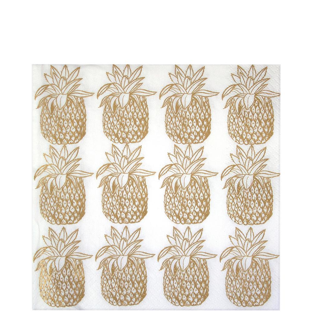 Metallic Gold Pineapple Lunch Napkins 20ct Image #1