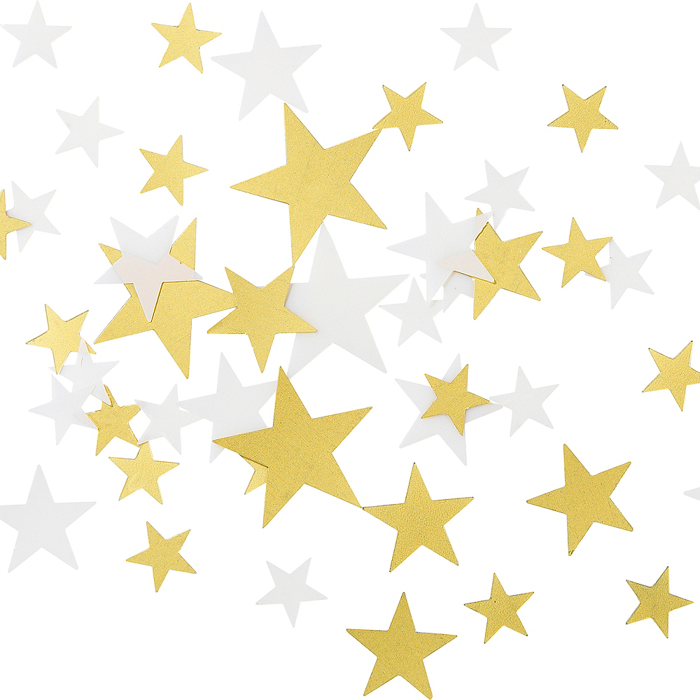 White & Gold Star Table Scatter Image #1