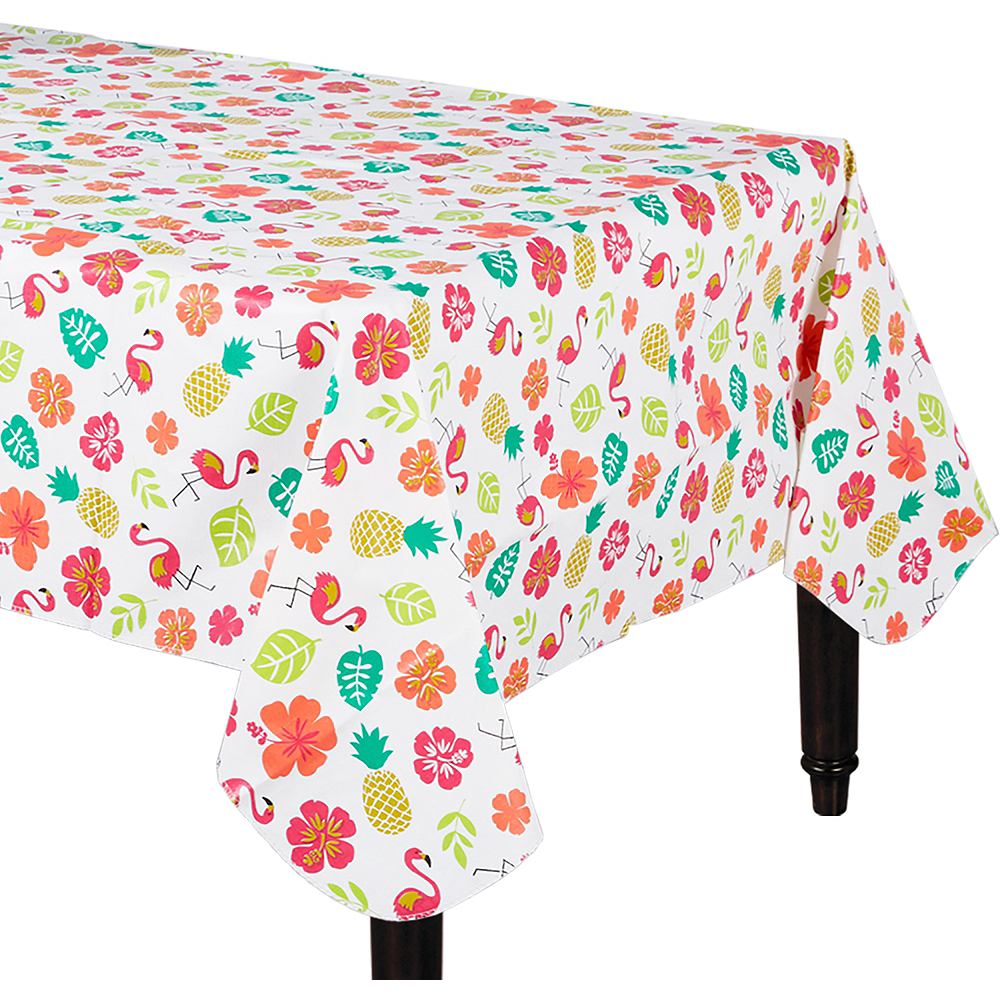 You Had Me At Aloha Flannel Backed Vinyl Tablecloth 52in X 90in Party City