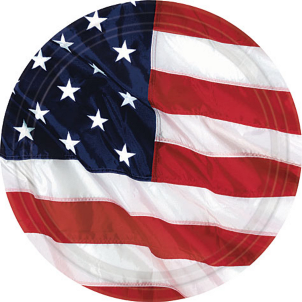 Flying Colors American Flag Dessert Plates 8ct Image #1
