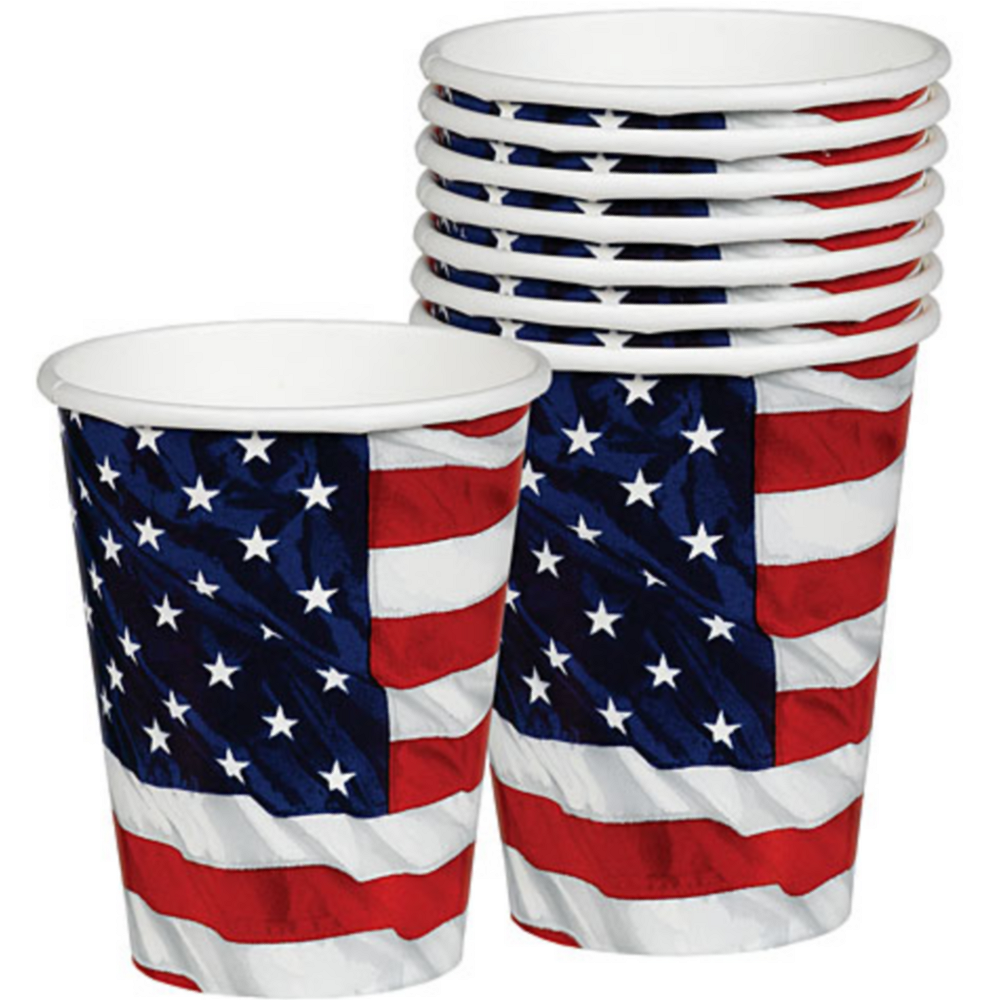Flying Colors American Flag Cups 8ct Image #1
