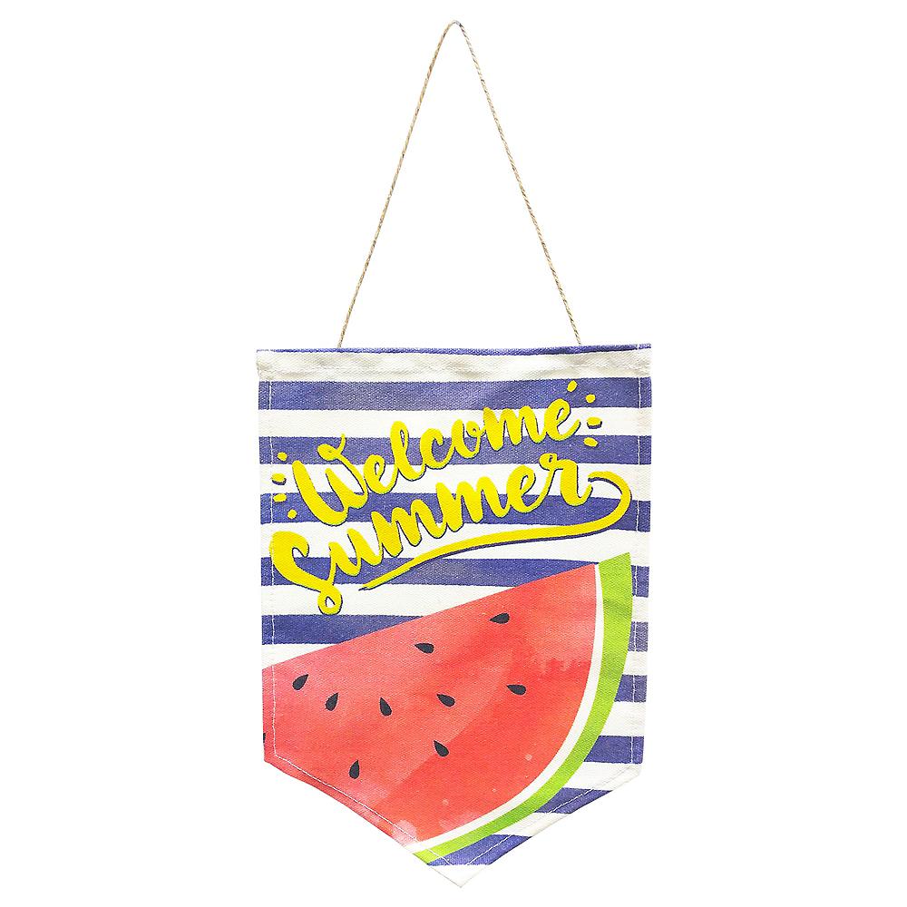 Hello Summer Fabric Sign Image #1