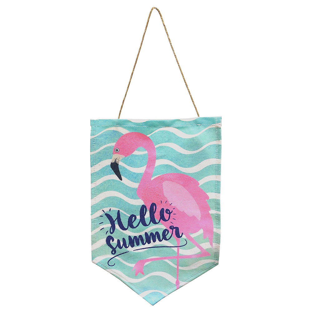 Flamingo Fabric Sign Image #1