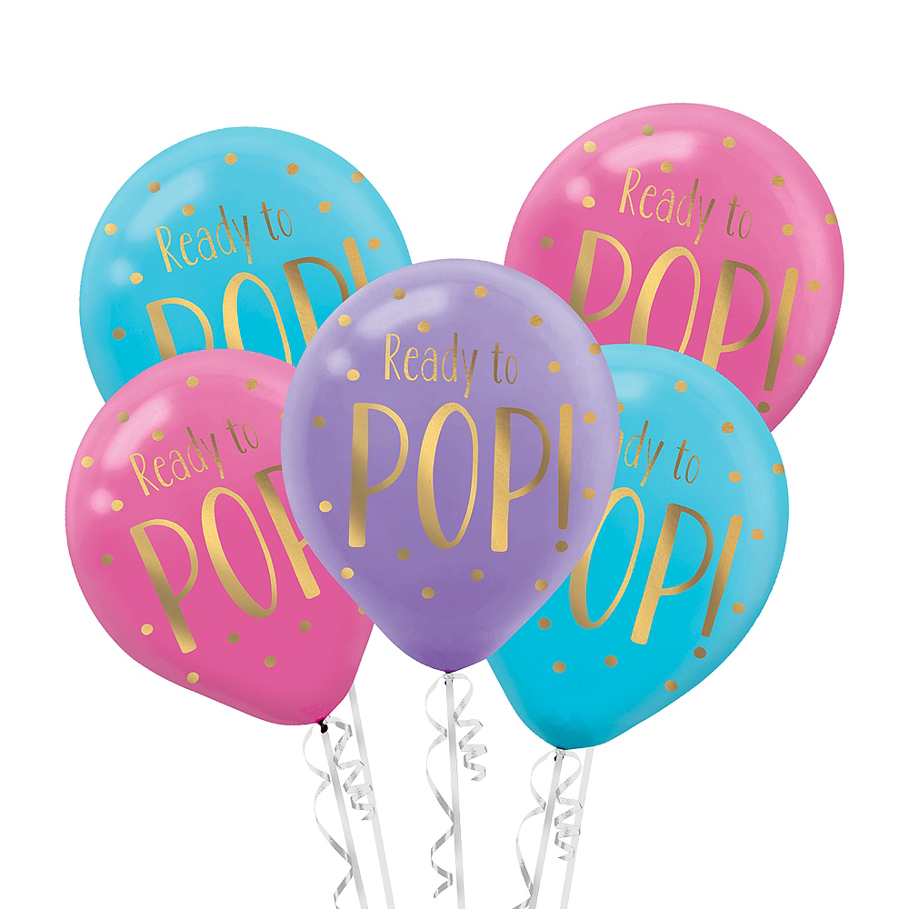 Ready To Pop Baby Shower Balloons 6ct Party City