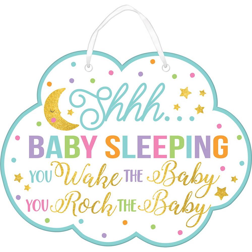 Glitter Baby Sprinkle Baby Shower Sign 11 12in X 9in Party City