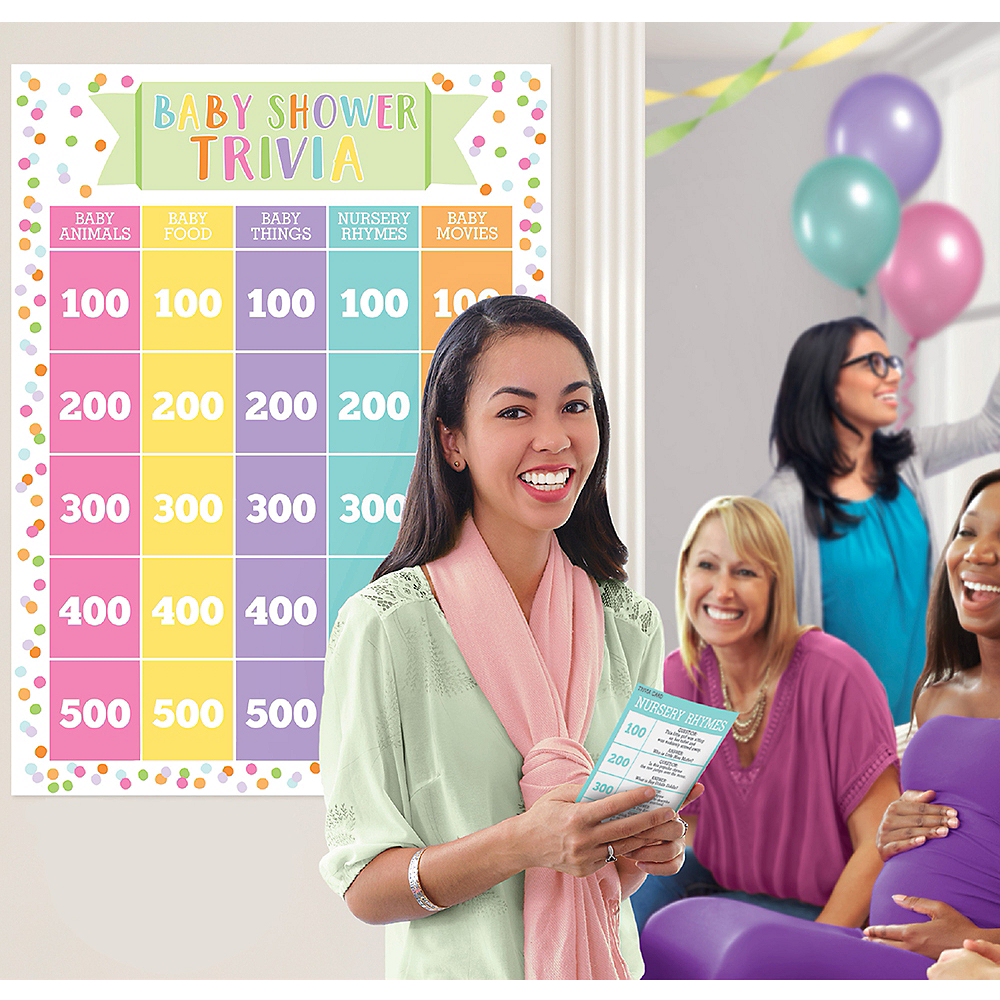 Baby Shower Trivia Party Game Image #1