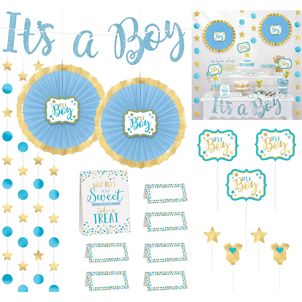 It's a Boy Baby Shower Treat Table Decorating Kit 23pc Image #1