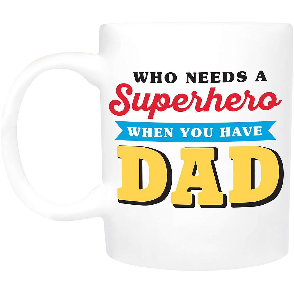 Nav Item for Superhero Dad Coffee Mug Image #1