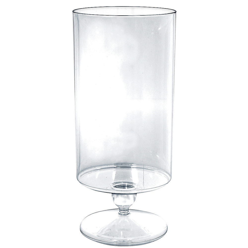 Nav Item for Tall CLEAR Plastic Pedestal Cylinder Container Image #1