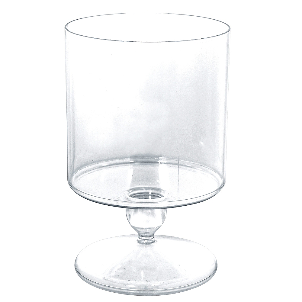 Short CLEAR Plastic Pedestal Cylinder Container Image #1
