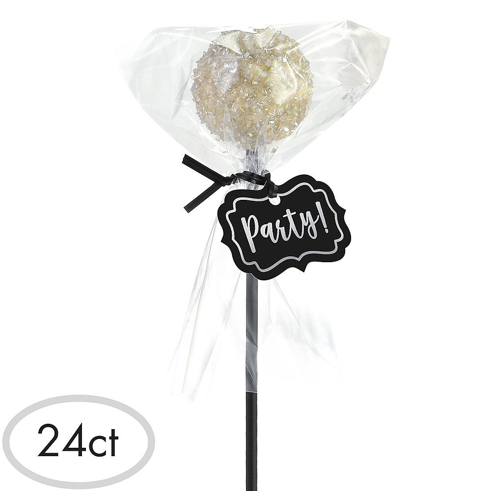 Black Cake Pop Kit for 24 Image #1