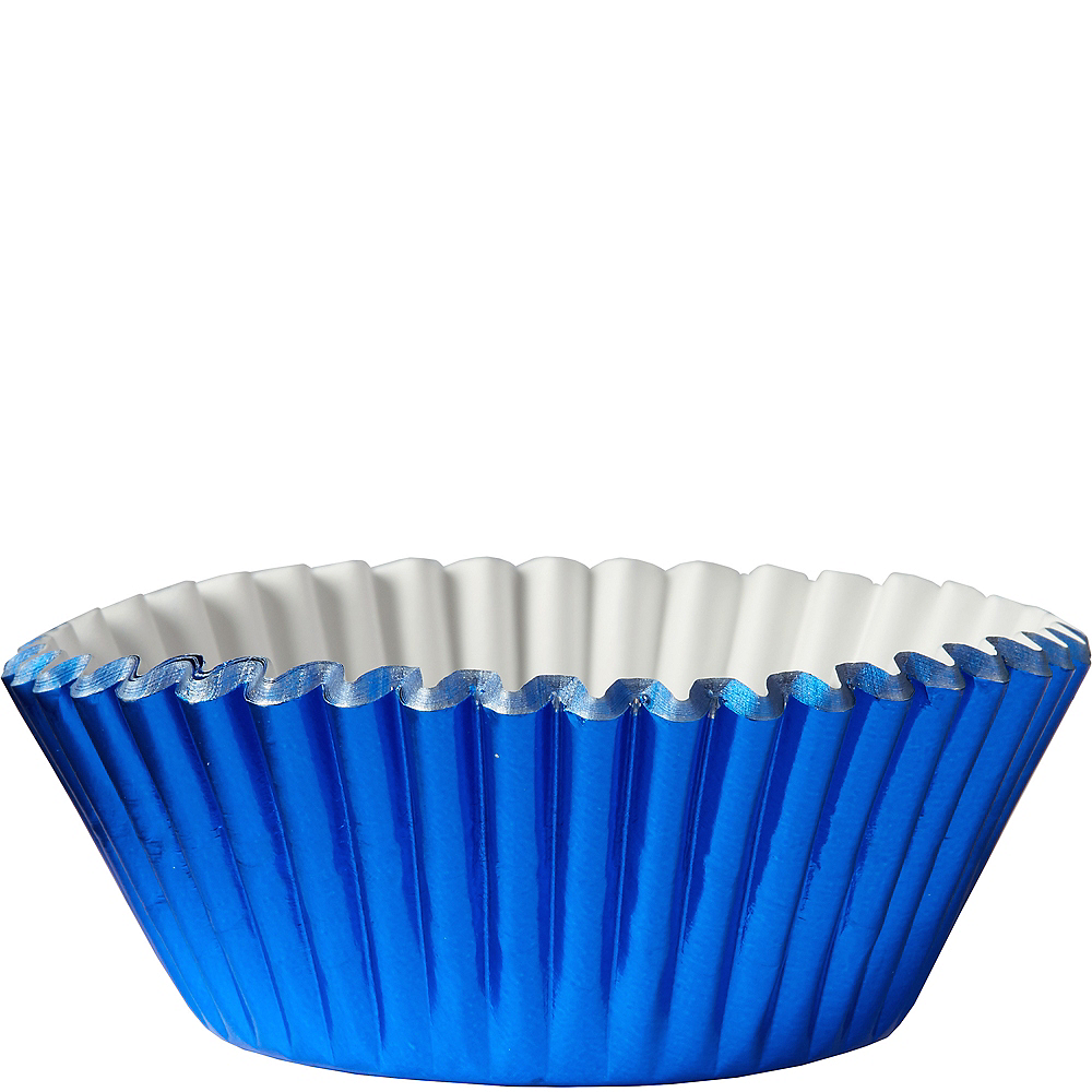 Metallic Blue Baking Cups 24ct Image #1