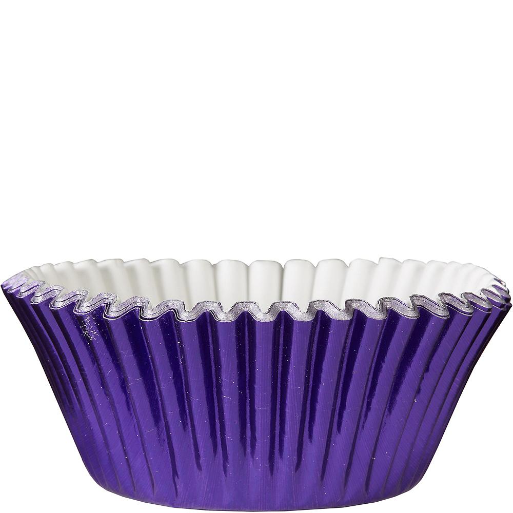 Metallic Purple Baking Cups 24ct Image #1