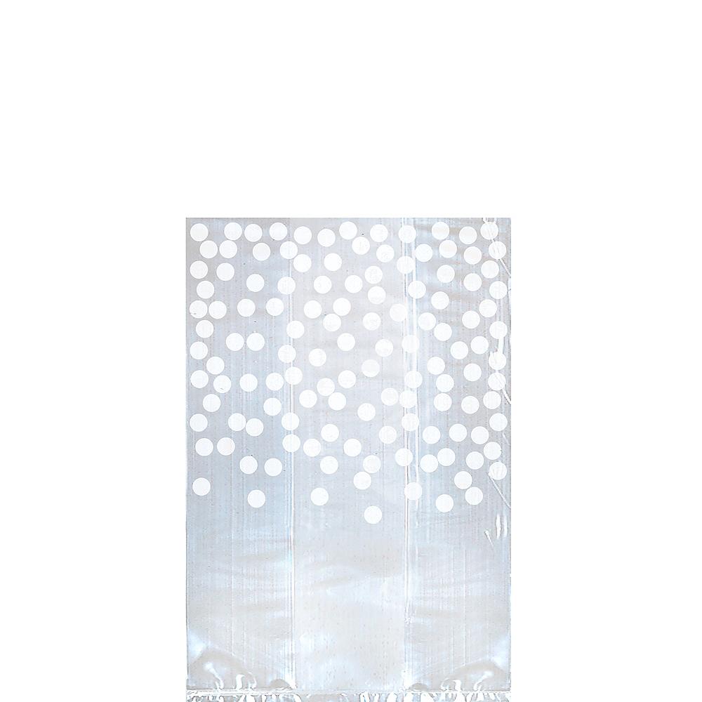 White Polka Dot Treat Bags 25ct Image #1