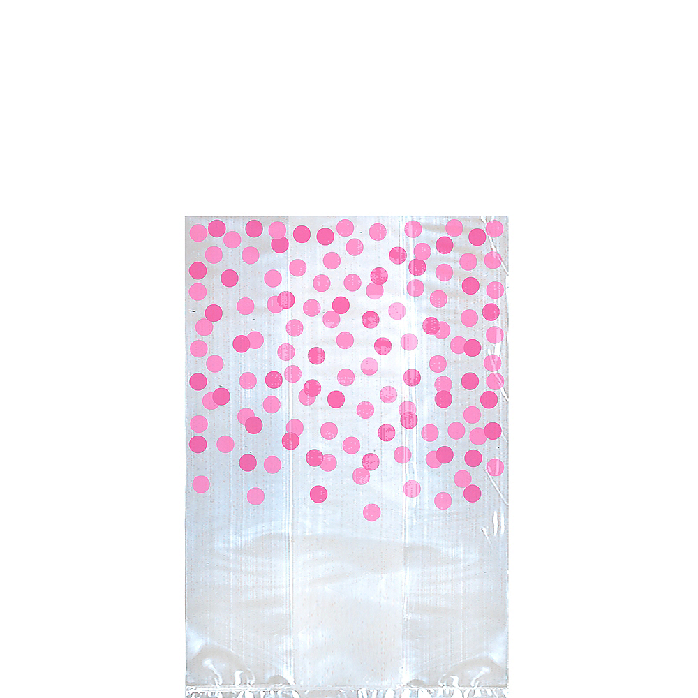 Pink Polka Dot Treat Bags 25ct Image #1