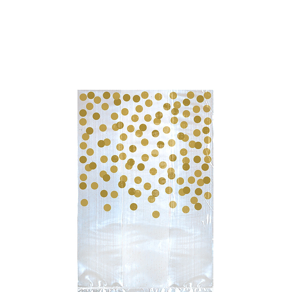 Gold Polka Dot Treat Bags 25ct Image #1