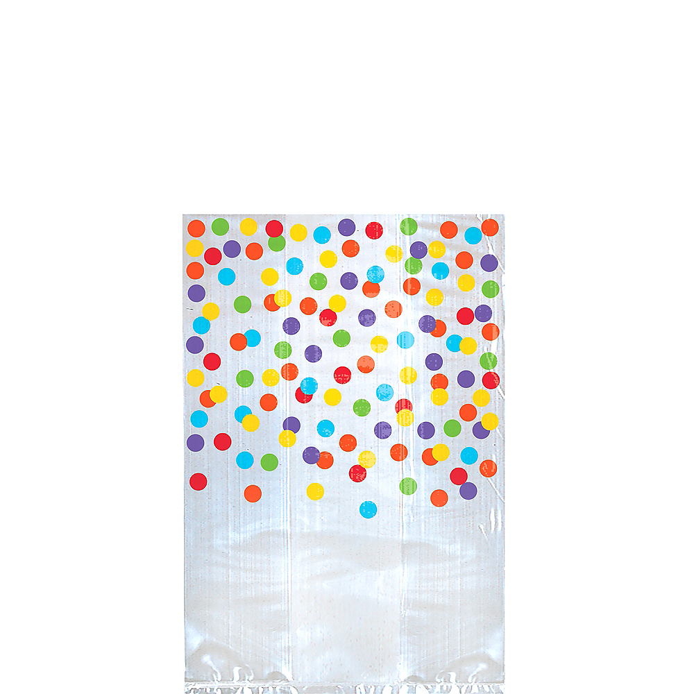 Rainbow Polka Dot Treat Bags 25ct Image #1