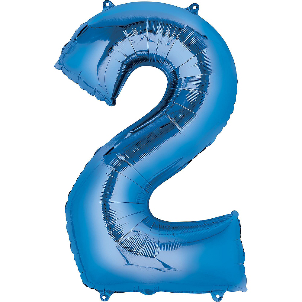 34in Blue 2020 Number Balloon Kit Image #2