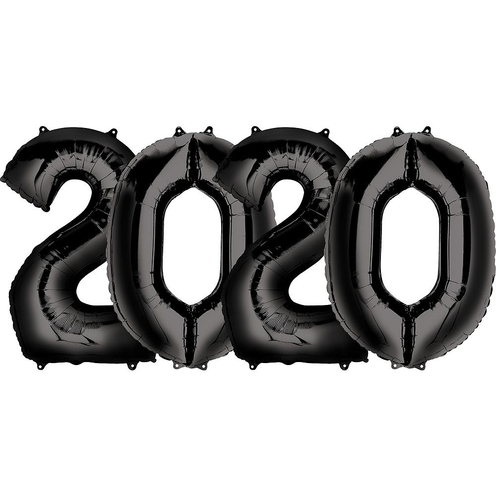 34in Black 2020 Number Balloon Kit Image #1
