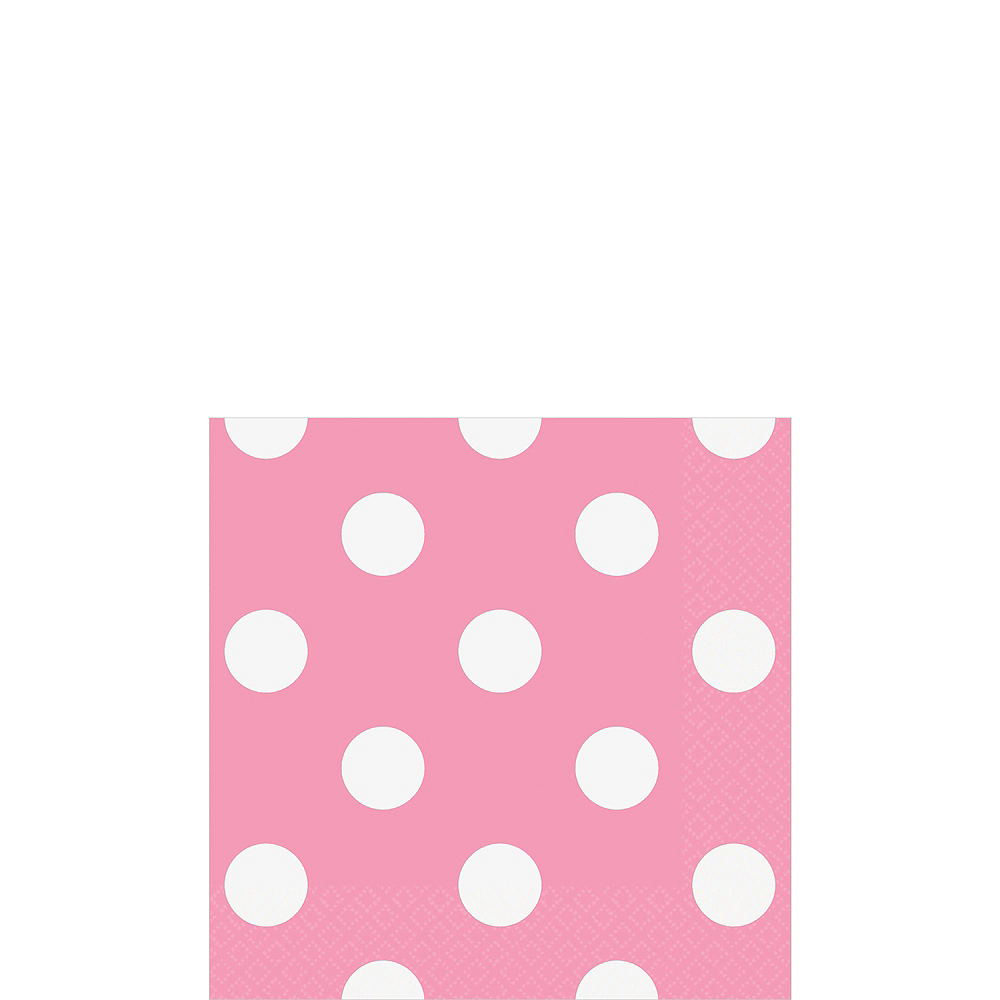 Pink & Yellow Polka Dot & Chevron Paper Tableware Kit for 16 Guests Image #4