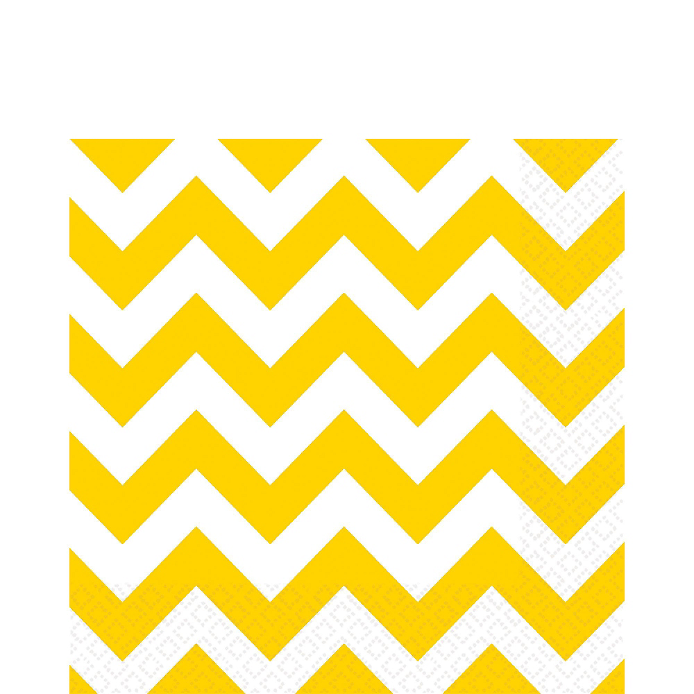 Pink & Yellow Polka Dot & Chevron Paper Tableware Kit for 16 Guests Image #5