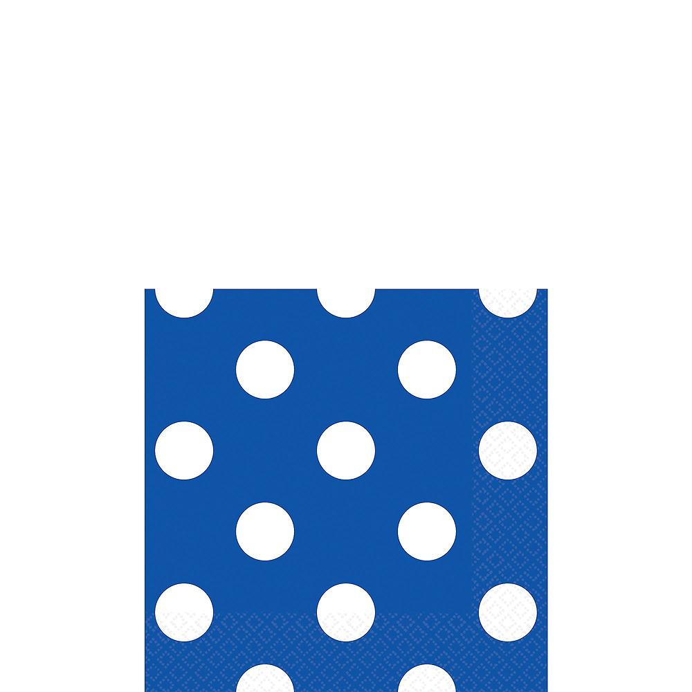 Royal Blue & Yellow Polka Dot & Chevron Paper Tableware Kit for 16 Guests Image #4
