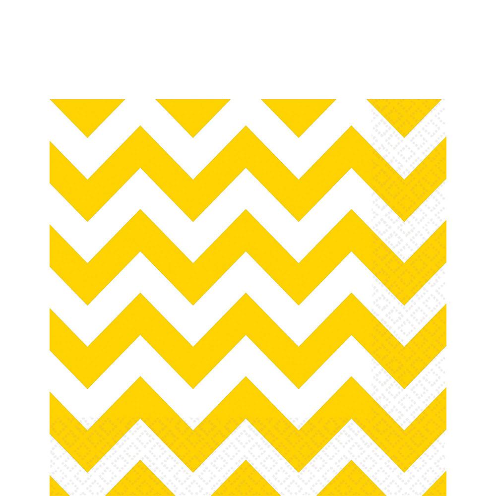 Royal Blue & Yellow Polka Dot & Chevron Paper Tableware Kit for 16 Guests Image #5