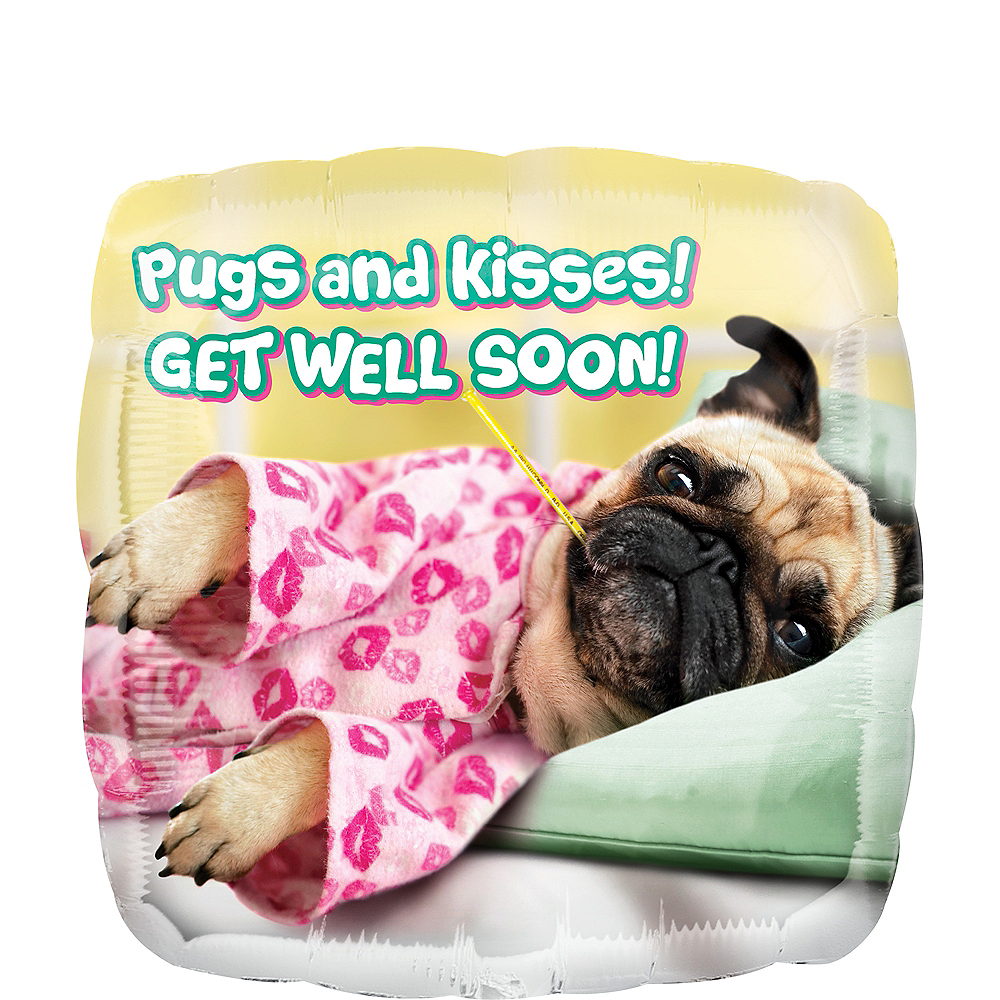 Pugs & Kisses Balloon, 16 1/2in Image #1