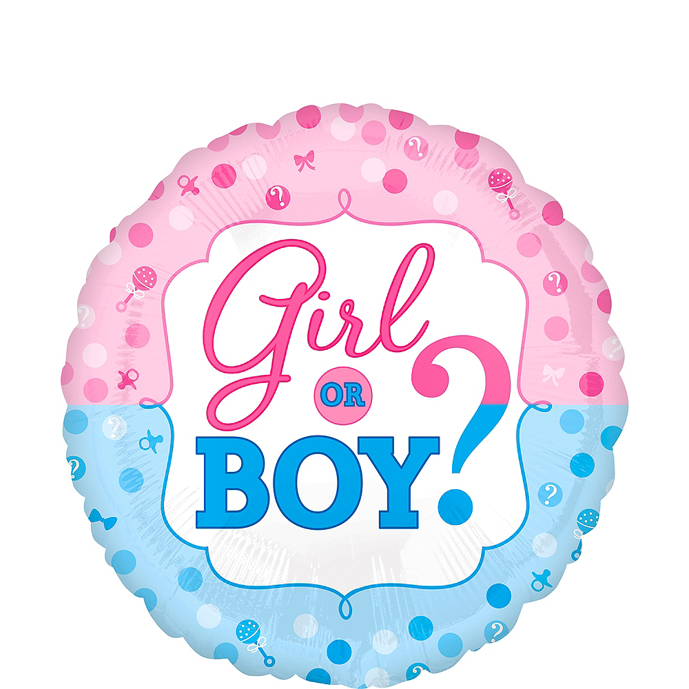 Girl or Boy Gender Reveal Balloon 16 1/2in Image #1