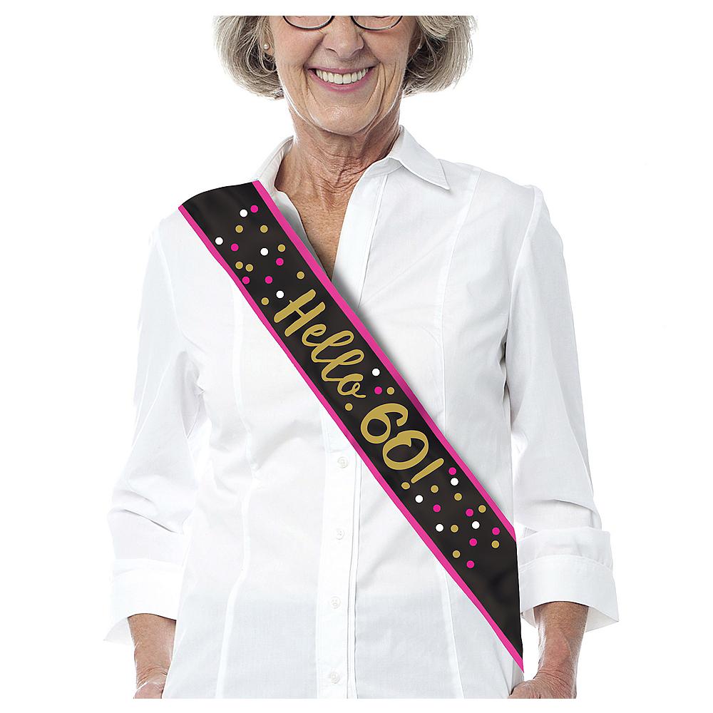 Pink Gold 60th Birthday Sash Image 1
