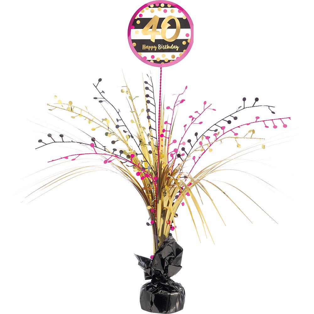 Nav Item For Pink Gold 40th Birthday Spray Centerpiece Image