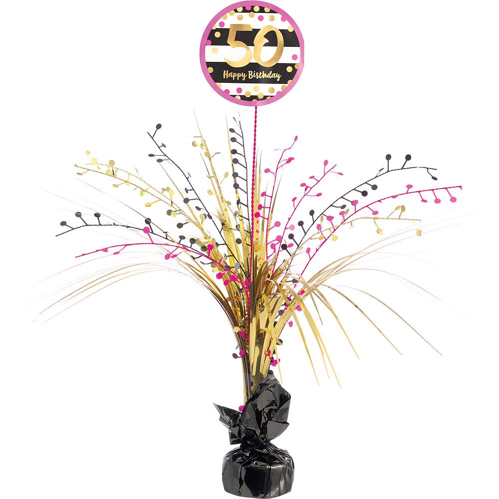 Nav Item For Pink Gold 50th Birthday Spray Centerpiece Image